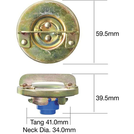 Tridon Non-Locking Fuel Cap - TFNL213, , scanz_hi-res