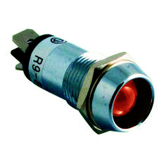 SCA Chrome Pilot Lamp - LED, Red, , scanz_hi-res