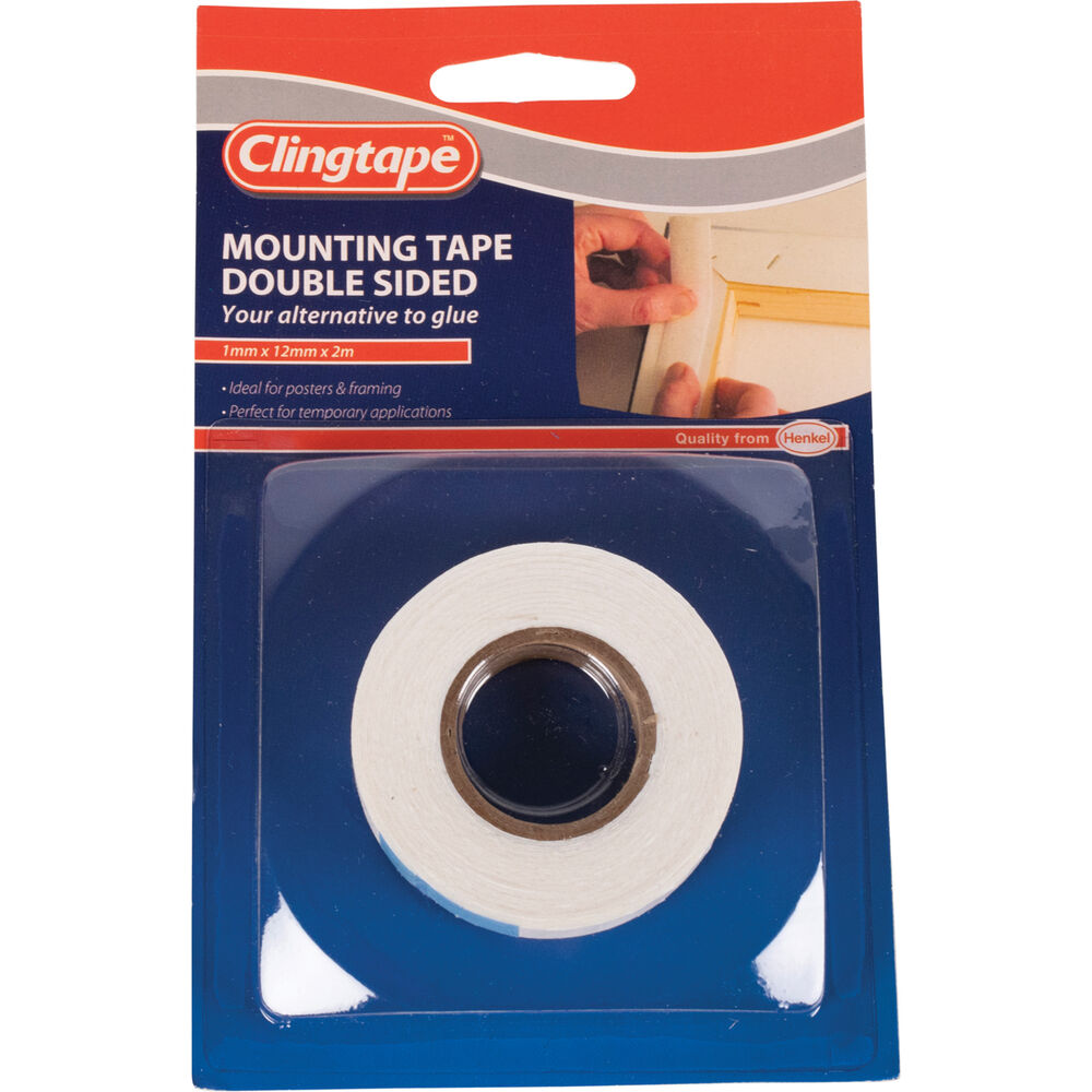 Clingtape Double Sided Tape Mounting 12mm X 2m