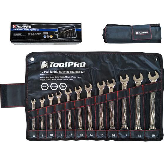 ToolPRO Spanner Set - Ratchet, 12 Piece, Metric, , scanz_hi-res