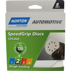 Norton Speed Grip Disc 120 Grit 125mm 5 Pack, , scanz_hi-res