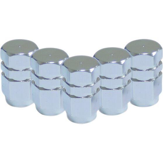 SCA Valve Stem Caps - Silver, 5 Pack, , scanz_hi-res