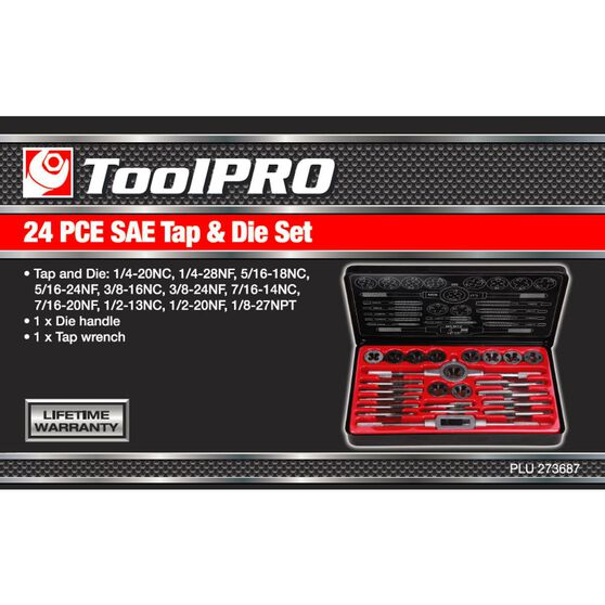 ToolPRO Tap and Die Set - Imperial, 24 Piece, , scanz_hi-res