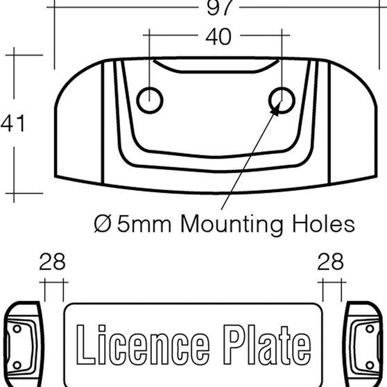 Licence Plate Lamp - LED, White, 10-30V, , scanz_hi-res