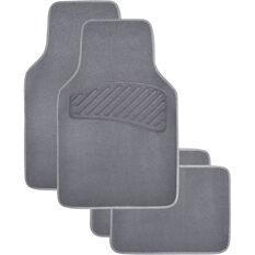 SCA Luxury Carpet Floor Mats - Carpet, Charcoal, Set of 4, , scanz_hi-res