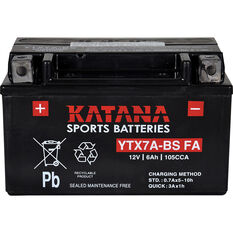 Katana Powersports Small Engine Battery YTX7A-BSMF, , scanz_hi-res