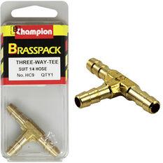 Champion T Pieces - 1 / 4inch, Brass, , scanz_hi-res