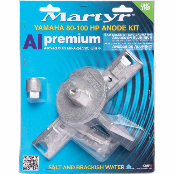 Martyr Alloy Outboard Anode Kit -CMY80100KITA, , scanz_hi-res