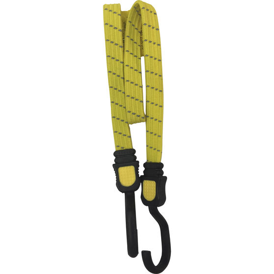 Flat Bungee Strap - Reflective, 75cm, Yellow, , scanz_hi-res