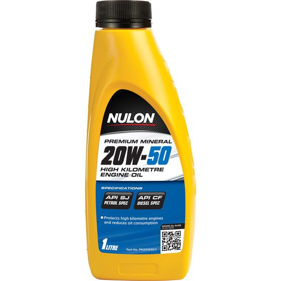 Nulon Premium Mineral High Kilometre Engine Oil - 20W-50 1 Litre, , scanz_hi-res