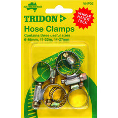 Tridon Hose Clamps - Part Stainless, 6-16mm, 11-22mm & 14-27mm, 6 Pieces, , scanz_hi-res