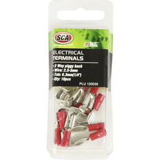SCA Electrical Terminals - 2 Way Piggy Back, Red, 6.3mm, 10 Pack, , scanz_hi-res