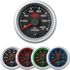 SAAS Oil Pressure Gauge Black 52mm, , scanz_hi-res