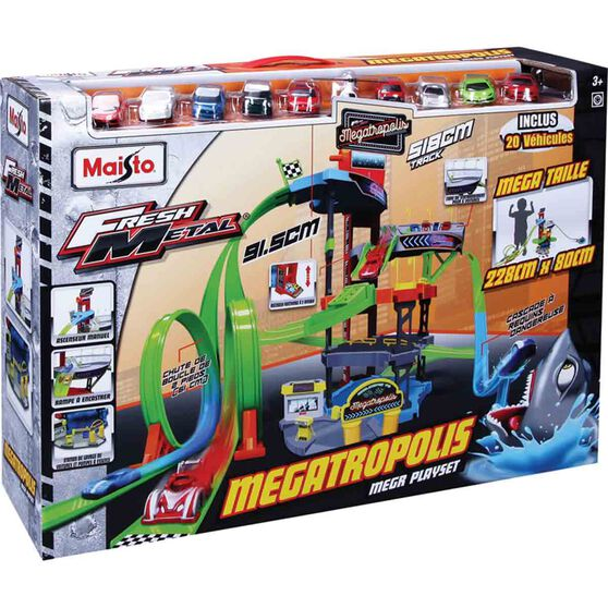 Megatropolis Play Set With 20 Vehicles, , scanz_hi-res