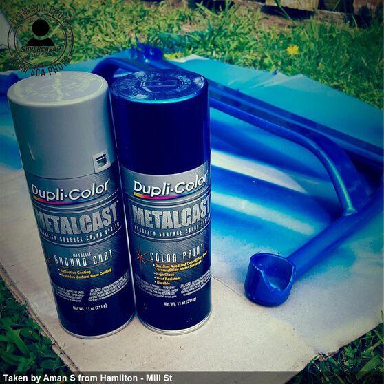 Dupli-Color Metalcast Aerosol Paint Enamel Blue Anodised 311g, , scanz_hi-res