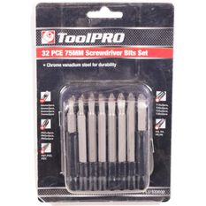 ToolPRO Driver Bit Set - 75mm, 32 Pieces, , scanz_hi-res