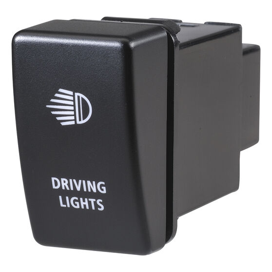 Narva OE Style Switch - Suits Holden Colorado 08-13 / Isuzu D-Max 09-13, Driving Light Bar Push On/Off, Blue LED, 63328BL, , scanz_hi-res