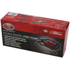 SCA Foot Pump, Double Barrel, With Gauge, , scanz_hi-res