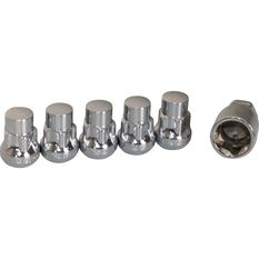 Wheel Nuts, Tapered Lock, Chrome - 1/2, , scanz_hi-res