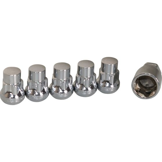 Calibre Wheel Nuts, Tapered Lock, Chrome - SLN12, 1 / 2inch, , scanz_hi-res