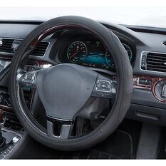 SCA Steering Wheel Cover - PU Racing, Black, 380mm diameter, , scanz_hi-res