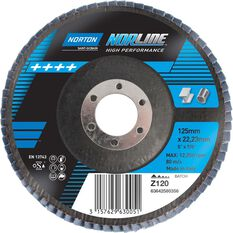 Norton Flap Disc 120 Grit 125mm, , scanz_hi-res