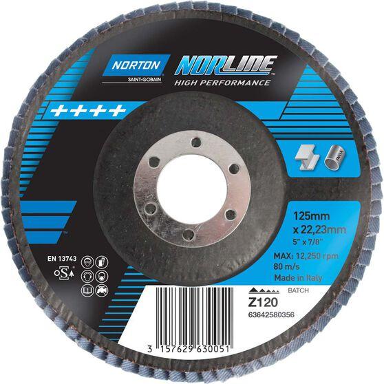 Norton Flap Disc - 120 Grit, 125mm, , scanz_hi-res