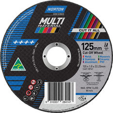 Norton Multi-Purpose Cutting Wheel - 125mm, , scanz_hi-res