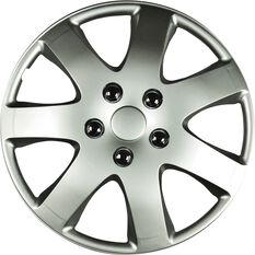 Best Buy Wheel Covers - Compass, 15 inch, Silver, 4 Piece, , scanz_hi-res
