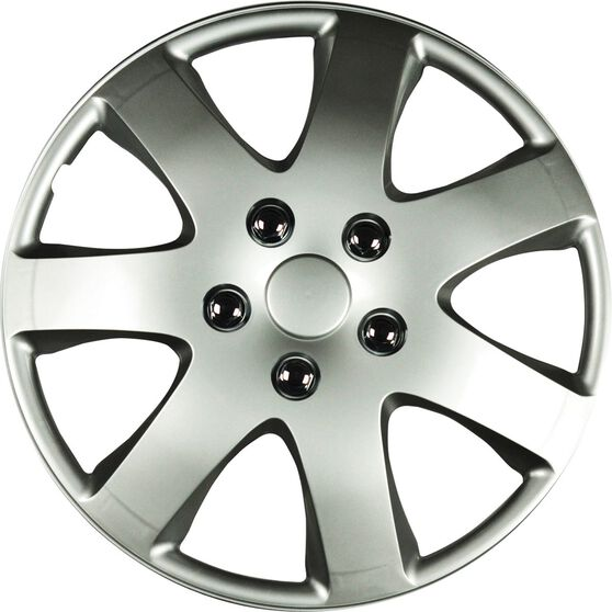 Wheel Covers - Compass, 15, Silver, 4 Piece, , scanz_hi-res