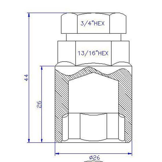 Calibre Wheel Nuts, Shank Lock, Chrome - MLN12125, 12mm x 1.25mm, , scanz_hi-res