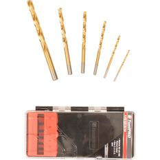 ToolPRO Tin Coated Drill Bit Set - 6 Piece, , scanz_hi-res