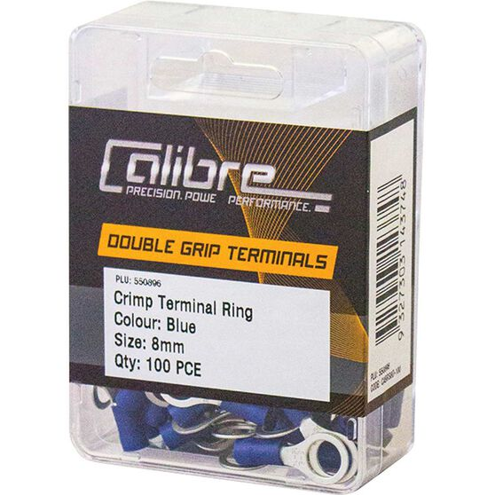 Crimp Terminal Ring Blue 8mm 100Pk, , scanz_hi-res