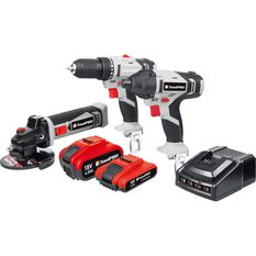 3-in-1 Drill Driver, Impact Drill & Grinder Contractor Kit, 18 Volt, , scanz_hi-res