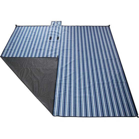 SCA Picnic Rug - Blue Stripe, 3m x 3m, , scanz_hi-res