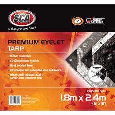 SCA Premium Poly Tarp - 1.8m X 2.4m (6 X 8), 185GSM, Silver, , scanz_hi-res