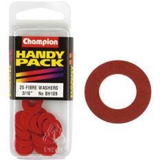 Champion Fibre Washers - 3 / 16inch X 1 / 2inch, BH109, Handy Pack, , scanz_hi-res