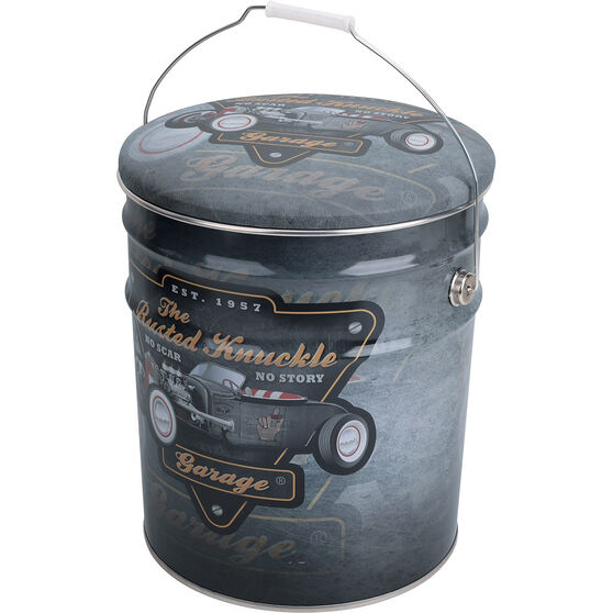 Tin Storage Stool - Hotrod, Busted Knuckle, , scanz_hi-res