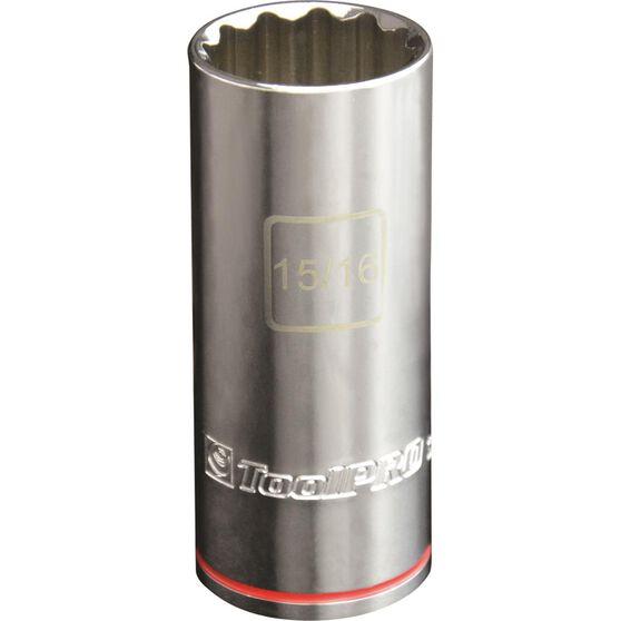 ToolPRO Single Socket - Deep, 1 / 2 inch Drive, 15 / 16 inch, , scanz_hi-res