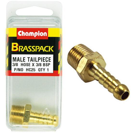 Champion Male Hose Barb - 3 / 8inch X 3 / 8inch, Brass, , scanz_hi-res