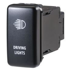 Narva OE Style Switch - Suits Toyota Landcruiser 79 Series, Landcruiser Prado 100-120 Series, Driving Lights Push On/Off Blue LED, Toyota, 63316BL, , scanz_hi-res
