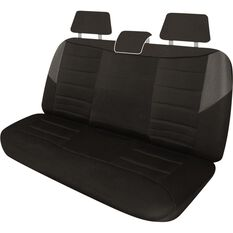 Carbon Mesh Seat Covers - Black and Grey Adjustable Headrests Size 06H Rear Seat, , scanz_hi-res