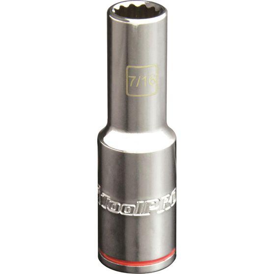 ToolPRO Single Socket - Deep, 1 / 2 inch Drive, 7/16 inch, , scanz_hi-res