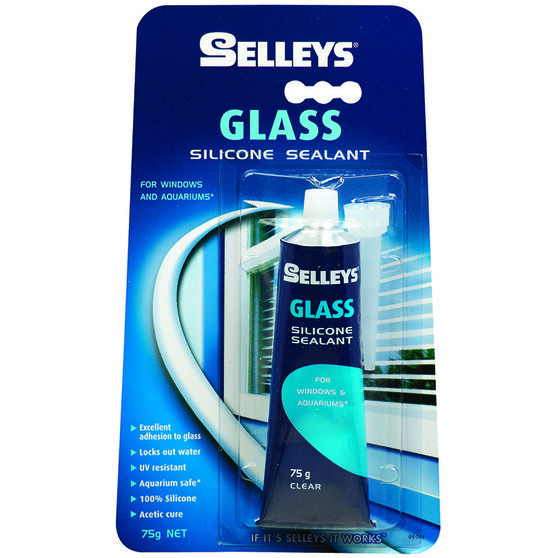 Selleys Glass Sealant - Clear, 75g, , scanz_hi-res