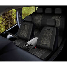 SCA Metallic Stitch Velour 5PC Seat Cover Pack, , scanz_hi-res