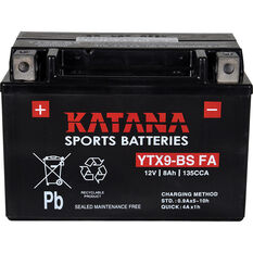 Katana Powersports Small Engine Battery YTX9-BS FA, , scanz_hi-res