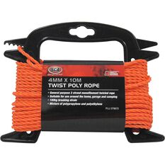 SCA 3 Strand Twist Poly Rope - 4mm X 10m, , scanz_hi-res