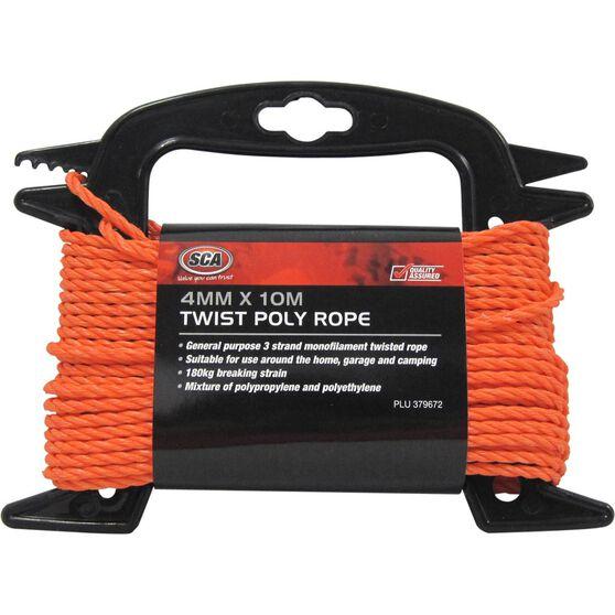 SCA 3 Strand Twist Poly Rope - 4mm X 10m, , scanz_hi-res