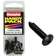 Champion Mush Head Screws - 8G X 3 / 4inch, BH753, Handy Pack, , scanz_hi-res