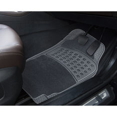SCA Combo Car Floor Mats - Carpet / PVC, Grey, Set of 4, , scanz_hi-res